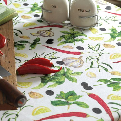 Toalha de Mesa Karsten Antiformiga Pepper Detalhe