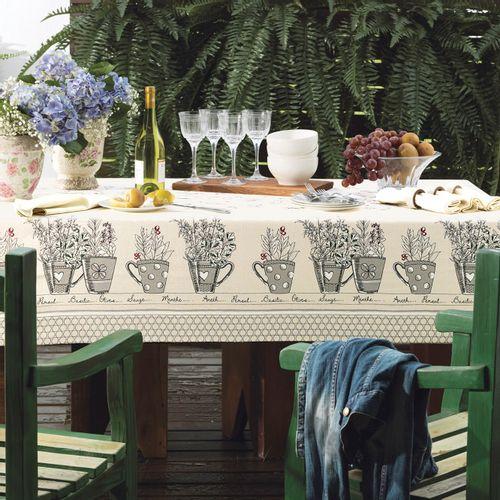 Toalha de Mesa Karsten Ecobela Garden Ambientada