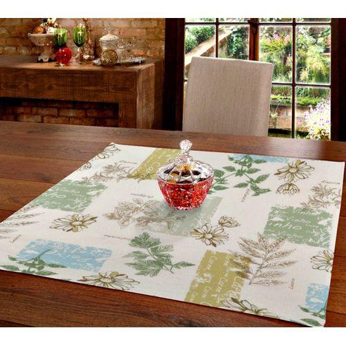 Toalha de Mesa Dohler Clean Athenas Evely Quadrada Ambientada