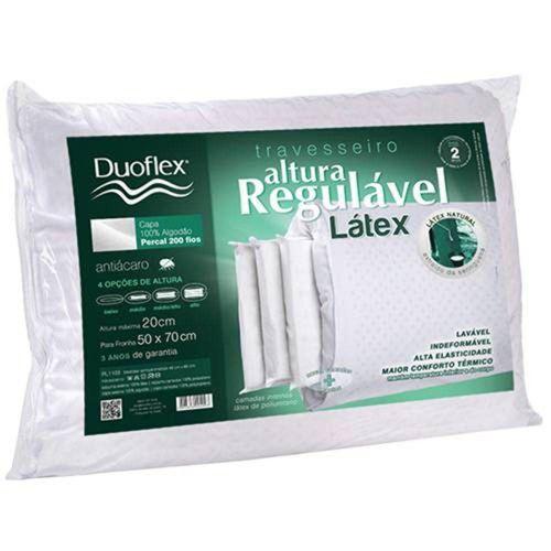 Travesseiro Duoflex Regulável Látex RL1103