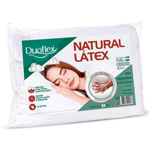 Travesseiro Duoflex Natural Látex LN1104