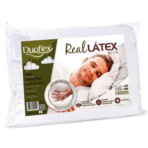 Travesseiro Duoflex Real Látex LS1100