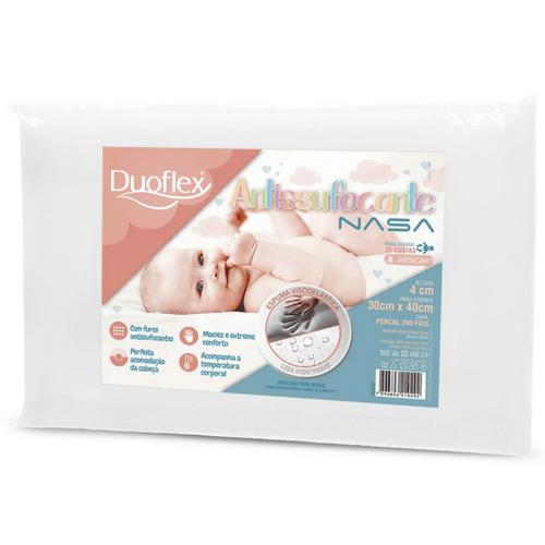 Travesseiro Infantil Duoflex NASA Antissufocante BB3002