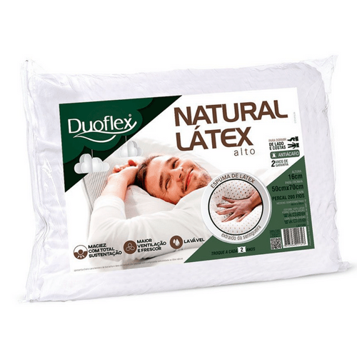 Travesseiro Duoflex Natural Látex Alto LN1100
