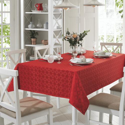 Toalha de Mesa Dohler Requinte Mosaico Vermelha