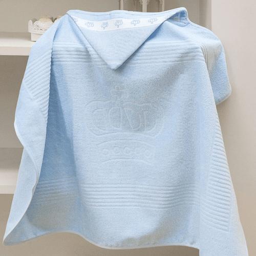Toalha-de-Banho-com-Capuz-Infantil-Dohler-Baby-Classic-Azul-7239-Still