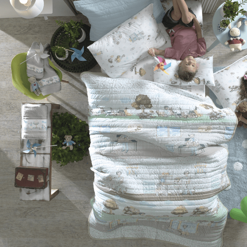 Jogo-de-Colcha-Infantil-Altenburg-Mundo-Kids-Amigo-Pet-Ambientada