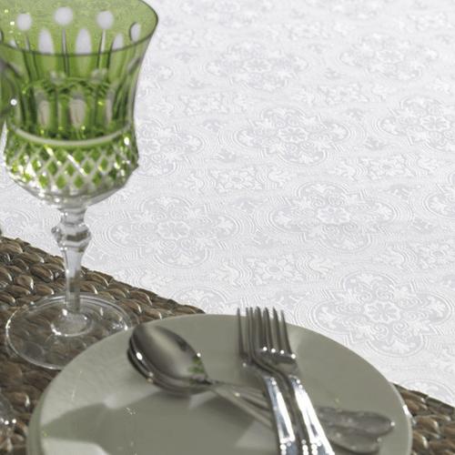Toalha-de-Mesa-180-x-180-Karsten-Sempre-Limpa-Faenza-Branca-Detalhe