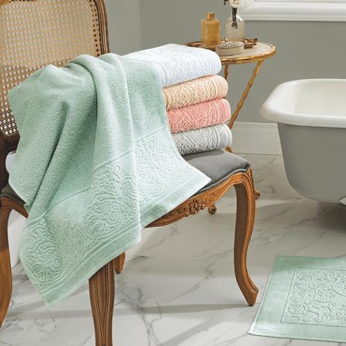 Toalha-de-Banho-Gigante-Dohler-Confort-Arabesco-Verde-9503-Ambientada