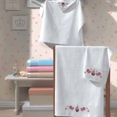 Toalha-de-Banho-Infantil-Dohler-Baby-Classic-Rosa-5211-Ambientada