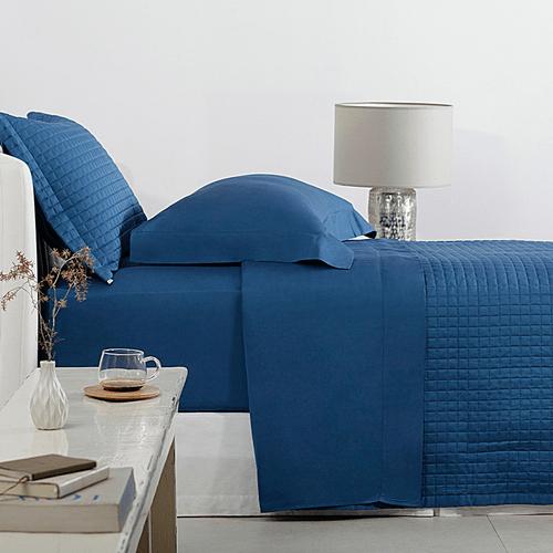 Jogo-de-Lencol-Solteiro-Buddemeyer-Bud-Vision-New-Colors-Azul-P46-Ambientada